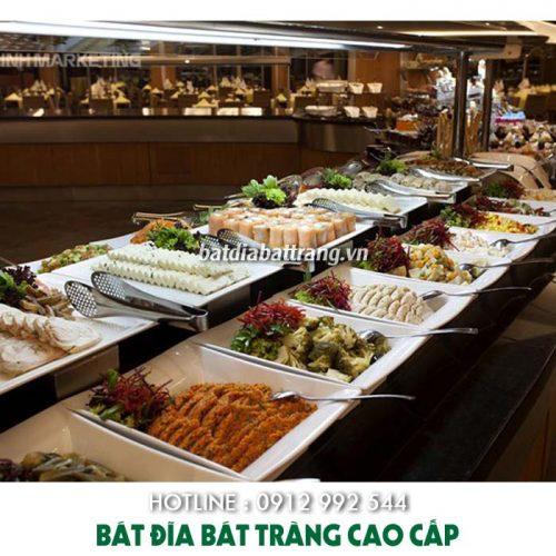 Các dụng cụ cho tiệc buffet cần có, set up bát đĩa nhà hàng buffet