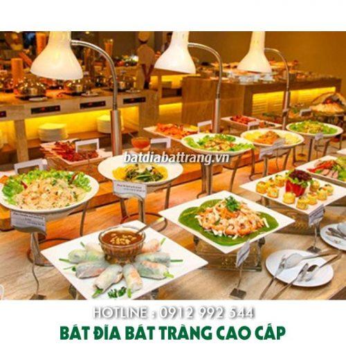 Cách sắp xếp bàn tiệc buffet, set up bát đĩa theo tiêu chuẩn