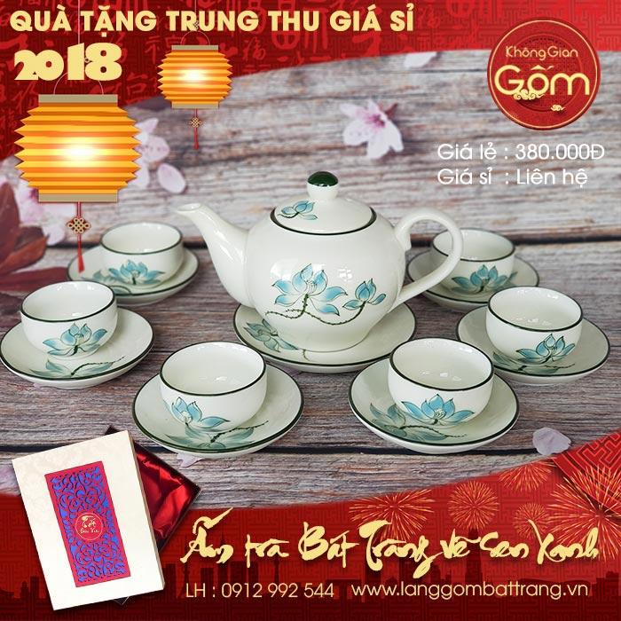quà trung thu giá sỉ ấm trà đẹp