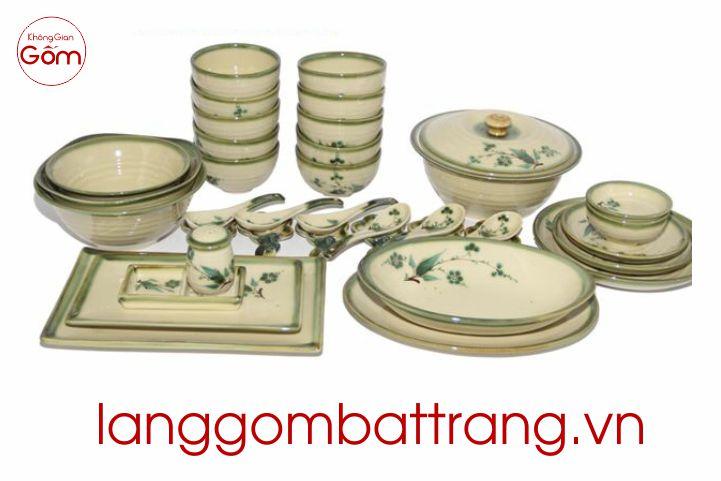 bộ bát đĩa Bát Tràng Việt Nam