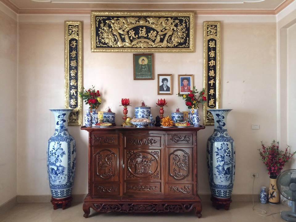 Bộ bàn thờ đầy đủ Bát Tràng