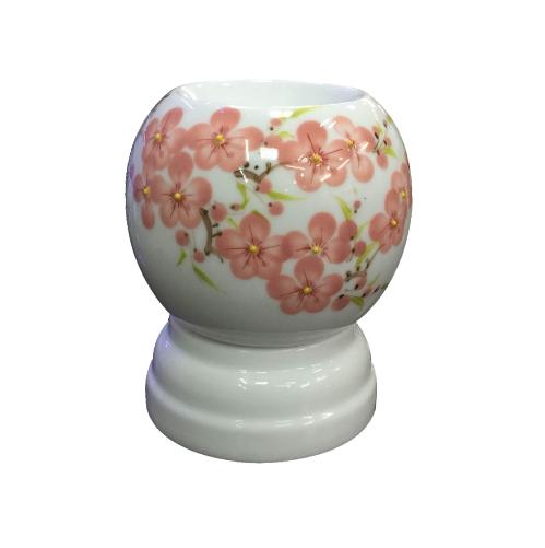 Đèn xông tinh dầu tròn hoa đào