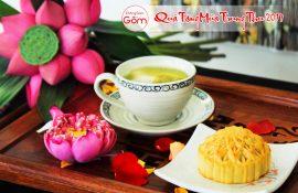 Bộ cốc trà sứ một chiếc làm quà tặng trung thu cho nhân viên, quà trung thu cho nhân viên