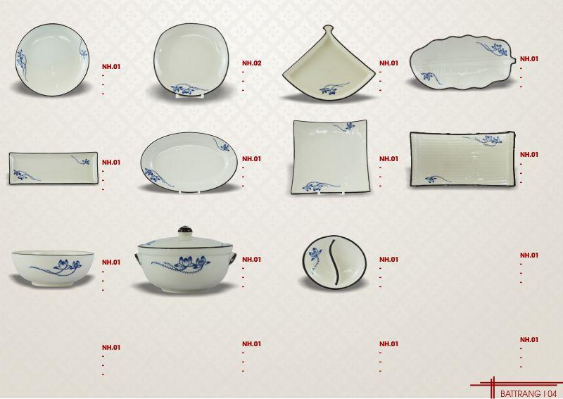 Cung cấp bát đĩa (chén dĩa) Bát Tràng cho nhà hàng khách sạn cao cấp