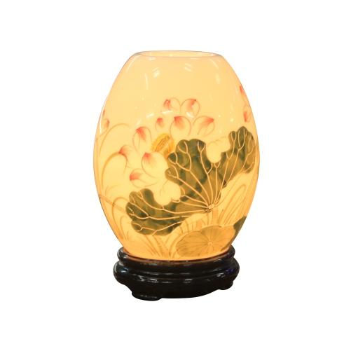 Đèn xông tinh dầu trứng mini vẽ hoa