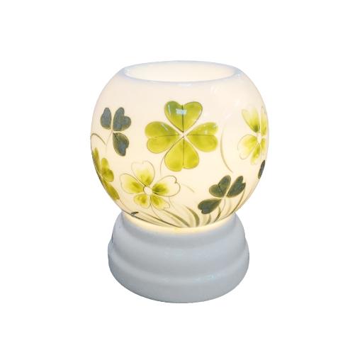 Đèn xông tinh dầu tròn cỏ bốn lá