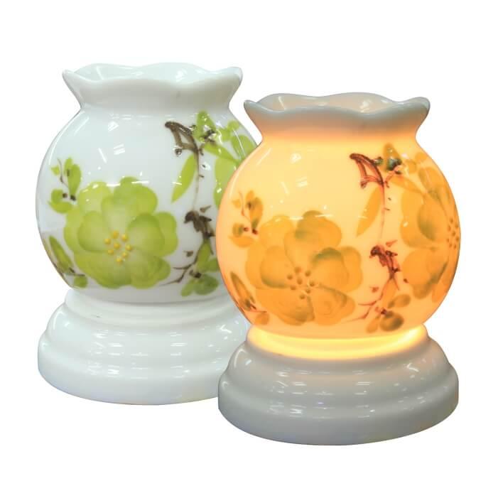 Đèn xông tinh dầu mini hoa