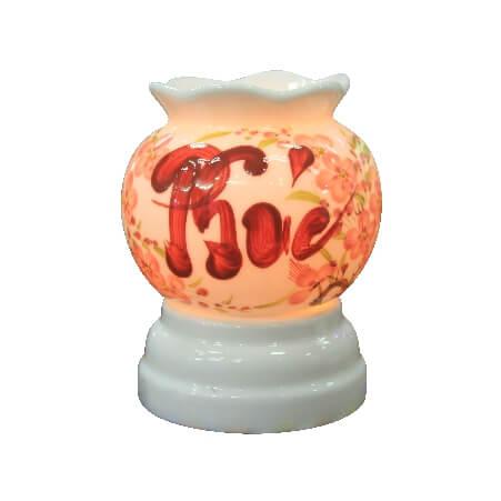đèn xông tinh dầu điện mini chữ Phúc