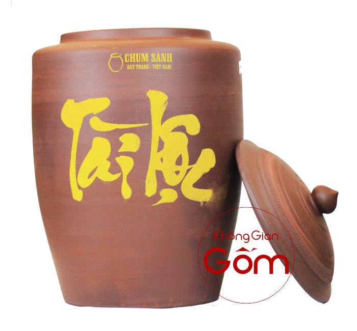 Hủ gạo Tài Lộc Bát Tràng, đặt Hủ Gạo Trong Nhà Tiền vào như nước