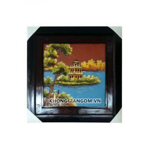 tranh gốm phong cảnh tranh gốm phong thủy tranh gốm phòng khách tranh gốm sứ nghệ thuật tranh gốm sứ đồng quê tranh gốm sứ ốp tường bát tràng tranh gốm trang trí tường tranh gốm treo tường