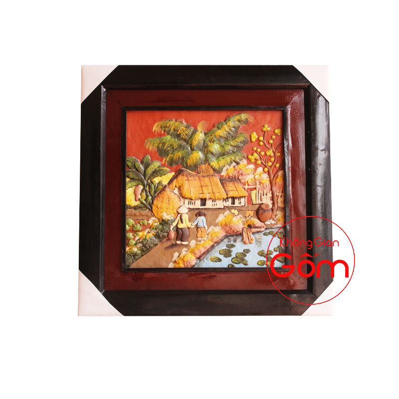 tranh gốm nghệ thuật tranh gốm nổi tranh gốm phong cảnh tranh gốm phong thủy tranh gốm phòng khách