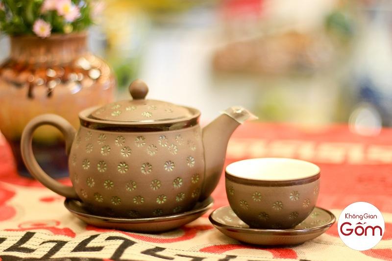 bộ trà tử sa ngàn sao Bát Tràng