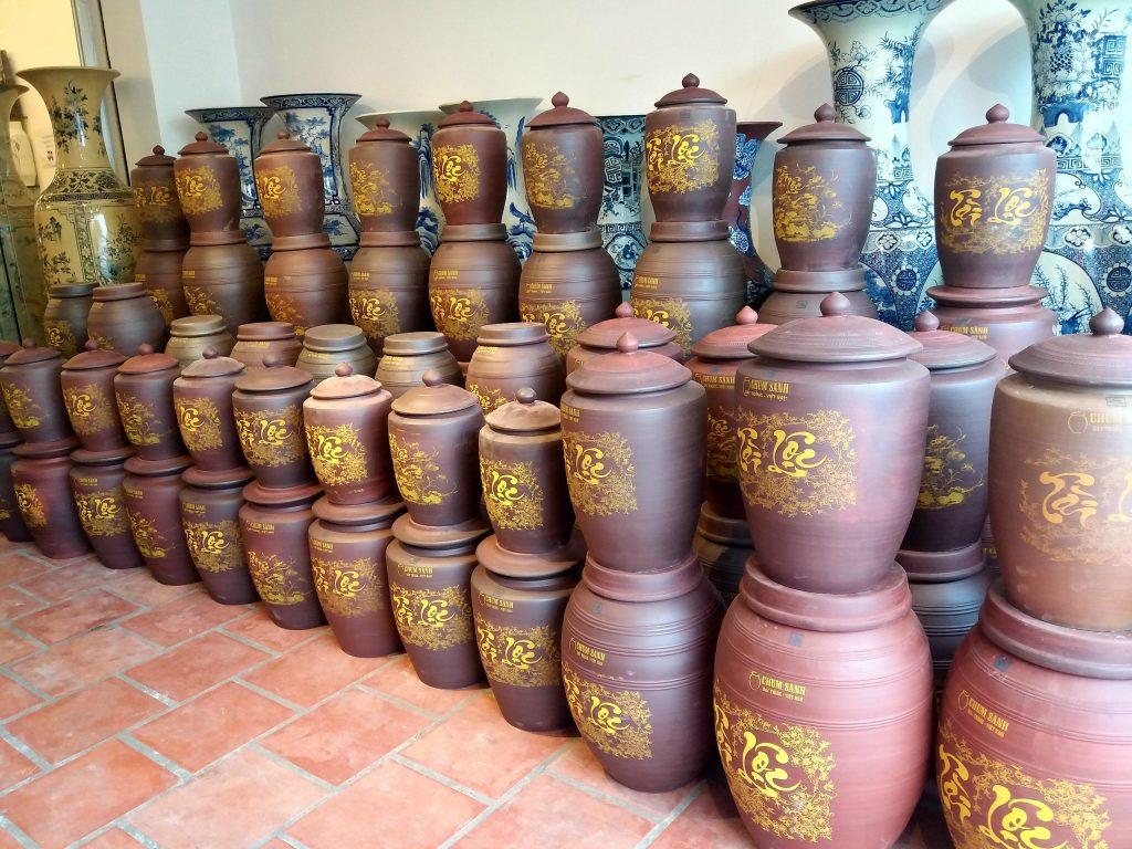 Hũ gạo Tài Lộc tại Không Gian Gốm