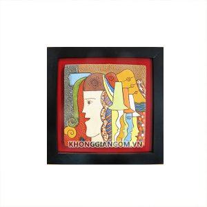 tranh gốm tại tphcm tranh gốm vinh quy bái tổ tranh gốm xưa tranh gốm đào tranh gốm đẹp tranh gốm đỏ