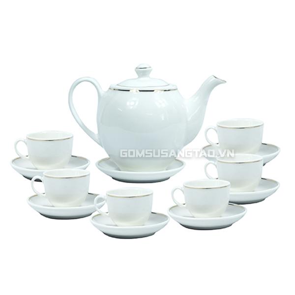 Mua quà tết cho khách hàng - ấm chén trà in logo giá gốc