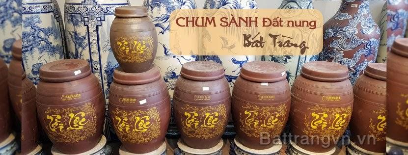 Bình đựng gạo gốm sứ đất nung Bát Tràng,bình đựng gạo 10kg