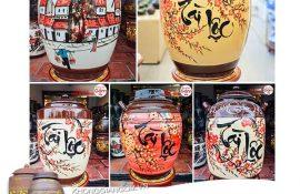 Chum đựng rượu gốm sứ Tài Lộc may mắn cho gia đình bạn
