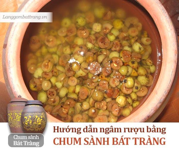 Hướng dẫn ngâm rượu bằng chum sành Bát Tràng - Làng gốm