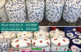 Các mẫu hũ sứ Bát Tràng muối dưa cà tại Đà Nẵng