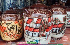 Thùng đựng gạo bằng gốm sứ tại Đà Nẵng