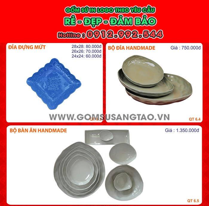 Xưởng sản xuất đĩa sứ bát tràng in logo hình ảnh, đĩa sứ lưu niệm tại tphcm
