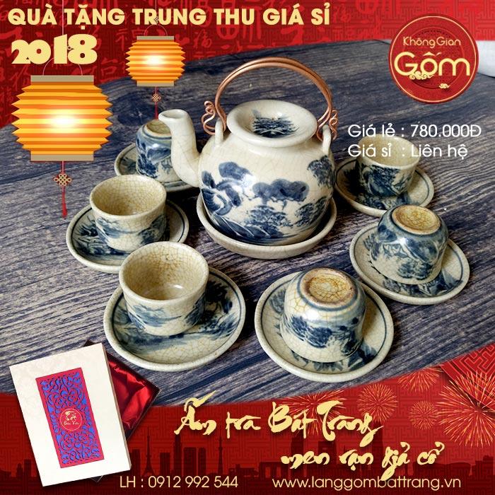 Quà tặng trung thu 2018 - Bộ ấm trà men rạn cao cấp