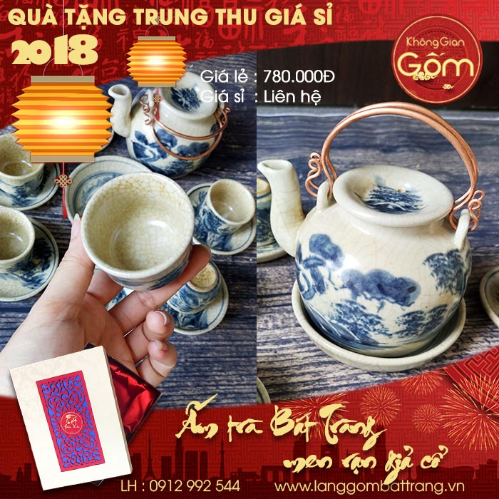 quà tặng trung thu 2018 ấm trà đẹp