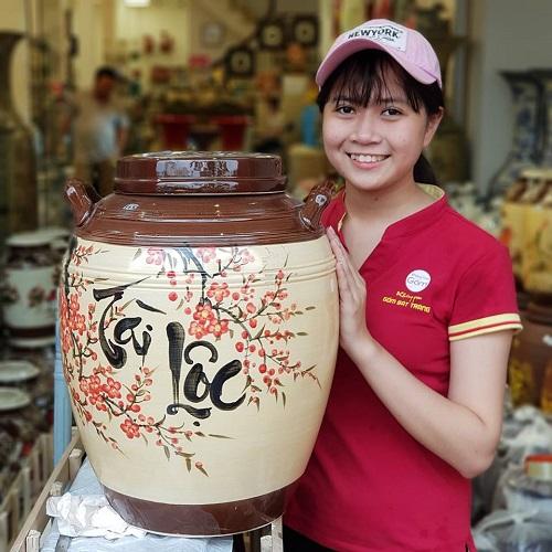 Hũ đựng gạo Tài Lộc  - sản phẩm làm quà tết cho công nhân ý nghĩa