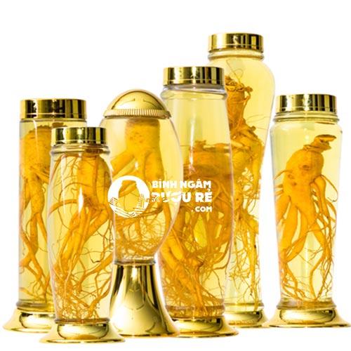 Quà tặng biếu tết ý nghĩa 2019 - bình thủy tinh ngâm rượu hàn quốc