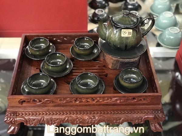 Bộ ấm trà men hỏa biến