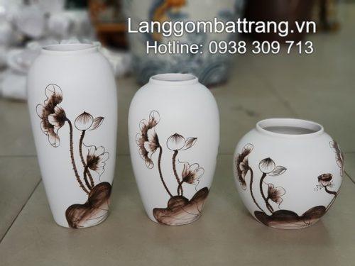 bình hoa gốm sứ Bát Tràng