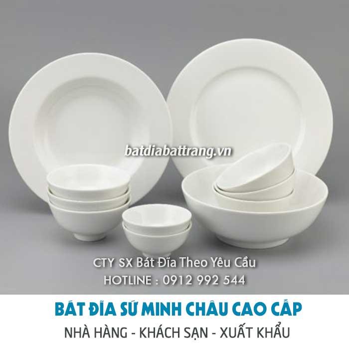 Mua tô sứ trắng đẹp, cung cấp tô chén dĩa sứ kiểu giá gốc