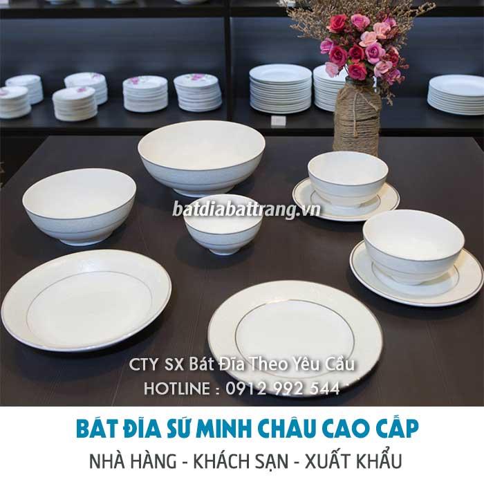 Cung cấp bát đĩa sứ nhà hàng quán ăn giá gốc