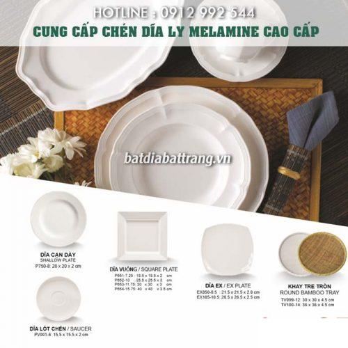 Đại lý cung cấp tô chén dĩa melamine cho nhà hàng quán ăn giá tốt