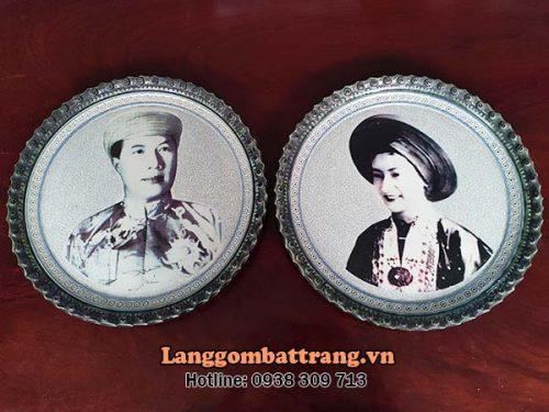 đĩa sứ trang trí quà tặng