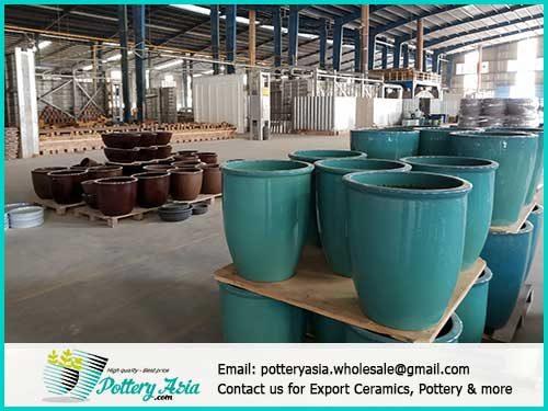 Đặt sản xuất mẫu chậu gốm sứ trưng bày, gốm sứ theo yêu cầu