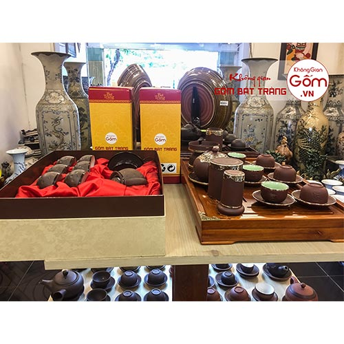 Mua bộ ấm trà sứ đẹp giá rẻ - Quà tặng biếu tết ý nghĩa 2019