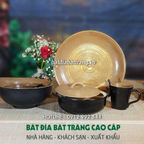 Đầu tư bát đĩa Bát Tràng - chén đĩa gốm sứ cao cấp cho nhà hàng buffet