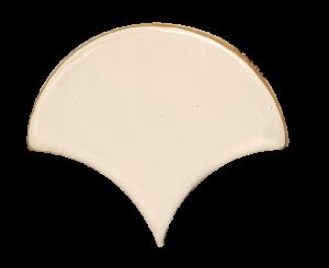 Gạch ốp tường gốm Bát Tràng hình quạt T1